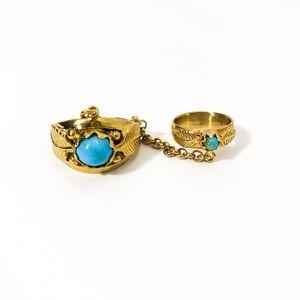 Sunahara Leaf Chain Ring in Gold